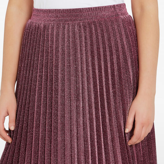 SPARKLE PLEATED SKIRT  MERLOT  hi-res