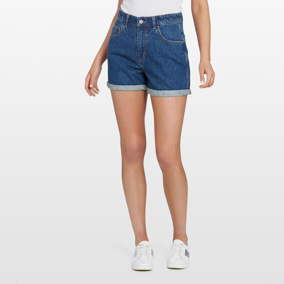 DENIM ROLL HEM SHORT  VINTAGE WASH  hi-res