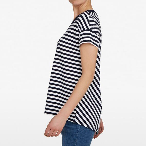 CROSS BACK TEE  NOCTURNAL/SUMMER WHI  hi-res