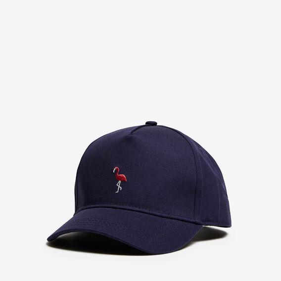 FLAMINGO EMBROIDERED CAP  OXFORD BLUE  hi-res
