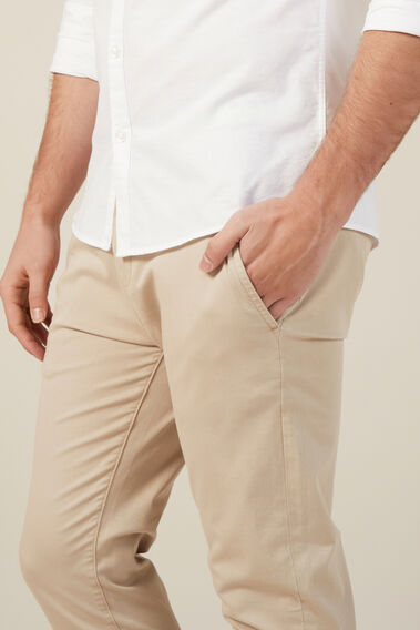 SLIM FIT STRETCH CHINO PANT  STONE  hi-res