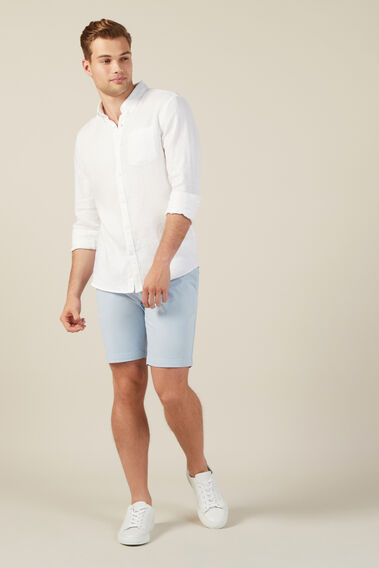 CHARLIE STRETCH CHINO SHORT  PALE BLUE  hi-res
