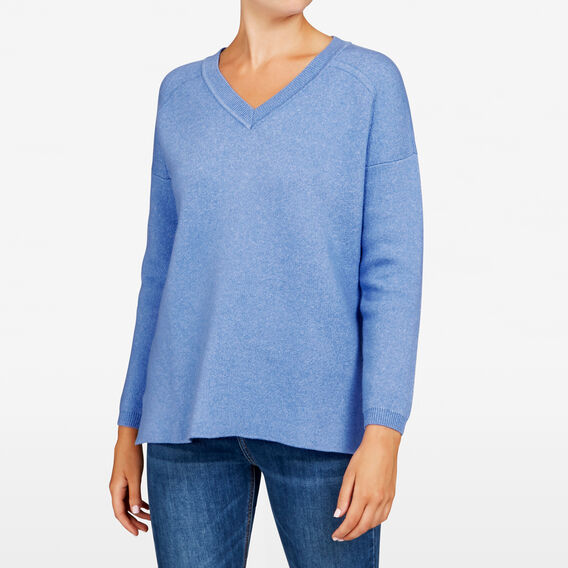 V NECK KNIT  CORNFLOWER  hi-res