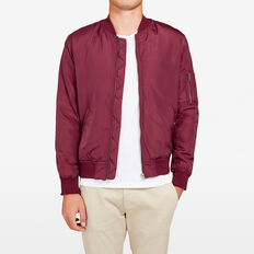 BOMBER JACKET  BURGUNDY  hi-res