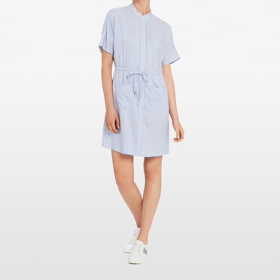 STRIPE SHIRT DRESS  CHAMBRAY/SUMMER WHIT  hi-res