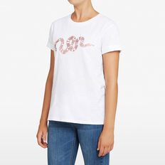 SNAKE SEQUIN TEE  SUMMER WHITE/DUSTY P  hi-res