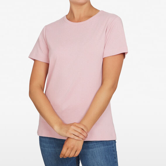 TEXTURED SPECKLE TEE  DUSTY PINK  hi-res
