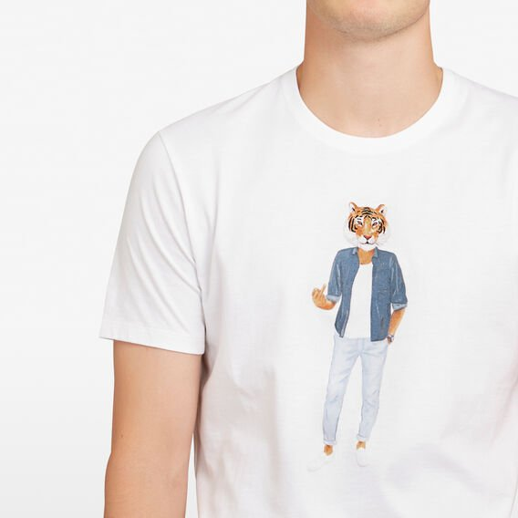 RUDE TIGER T-SHIRT  WHITE  hi-res