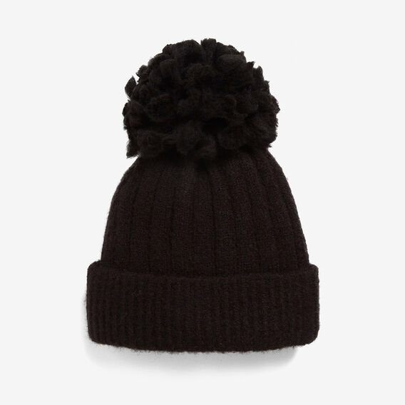 LARGE POM BEANIE  BLACK  hi-res