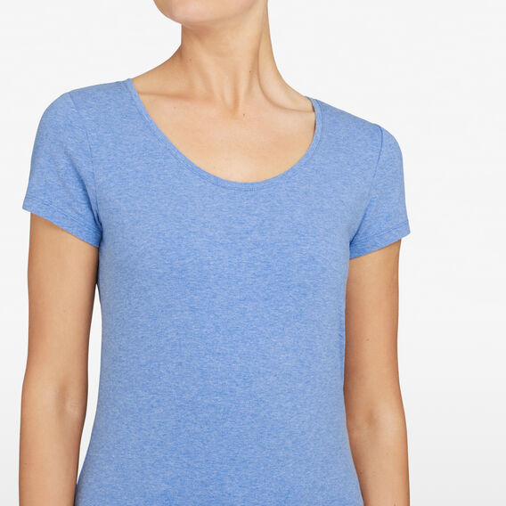 HAYLEY STRETCH SCOOP NECK TEE  CHAMBRAY MARLE  hi-res
