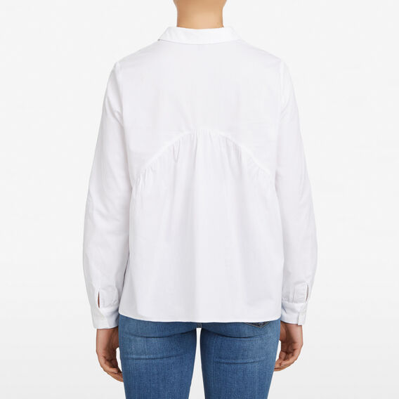 PEPLUM BUTTON THROUGH SHIRT  SUMMER WHITE  hi-res