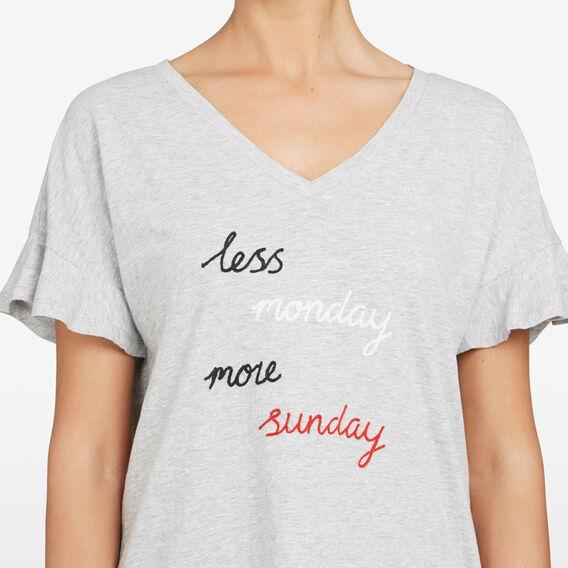 LESS MONDAY MORE SUNDAY TEE  GREY MARLE/MULTI  hi-res