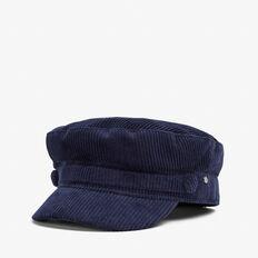 CORDUROY PAPERBOY CAP  NAVY  hi-res