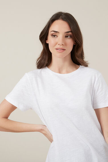 ESSENTIAL CREW NECK TEE  WHITE  hi-res
