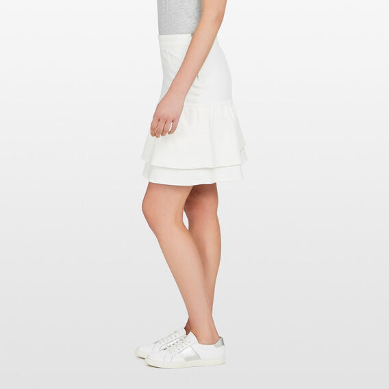 DENIM FLIPPY SKIRT  SUMMER WHITE  hi-res