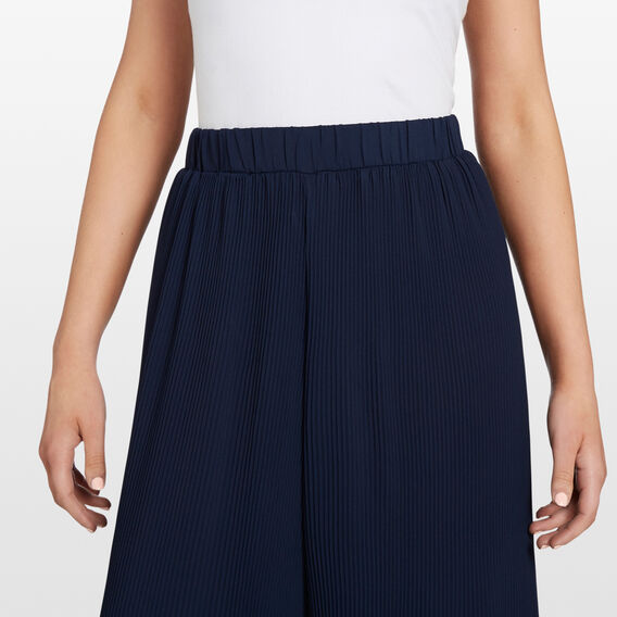 MINI PLEAT CULOTTE  NAVY  hi-res