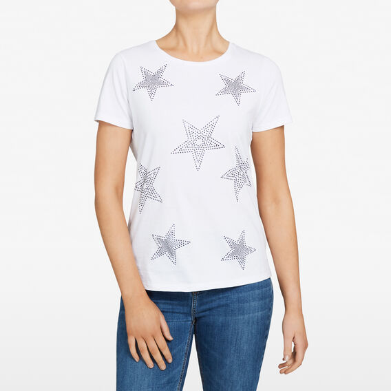 STAR BEADED TEE  SUMMER WHITE/NOCTURN  hi-res