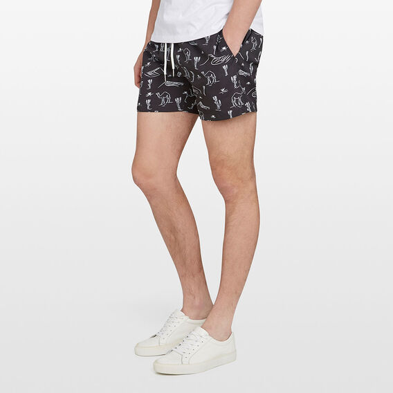 DESERT SWIM SHORT  BLACK  hi-res