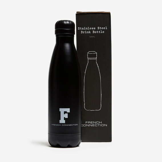 STAINLESS STEEL WATER BOTTLE  MATTE BLACK  hi-res