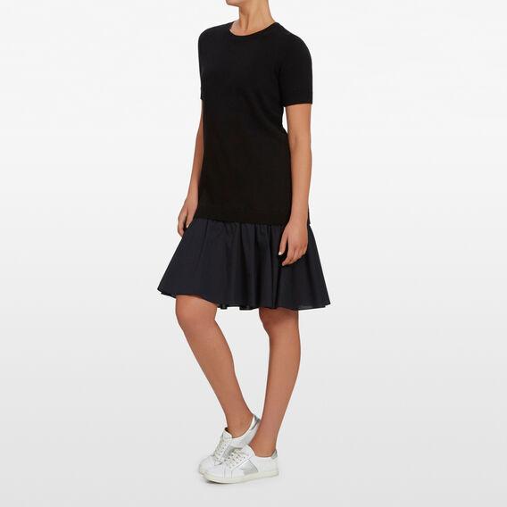 SPLICED 2 IN 1 DRESS  BLACK  hi-res