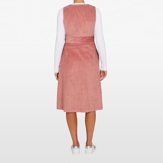 JUMBO CORD DRESS  ROSE PINK  hi-res