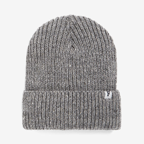SPECKLE BEANIE  CHARCOAL MARL  hi-res
