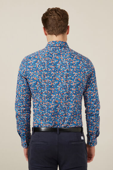 GARDEN FLORAL TAILORED FIT SHIRT  WHITE  hi-res