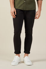 NEO SERGIO SLIM CHINO PANT  BLACK  hi-res