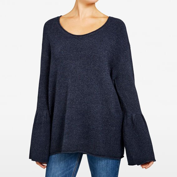 FLOSSY BELL SLEEVE KNITS  NOCTURNAL  hi-res