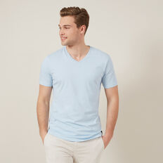 CLASSIC V NECK T-SHIRT  SKY BLUE  hi-res