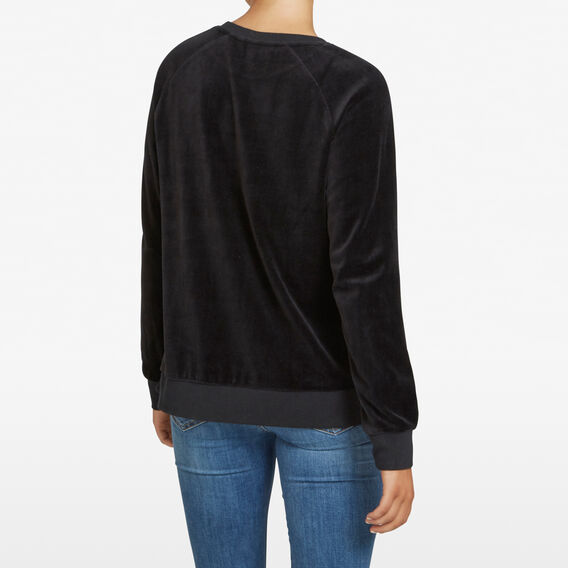 VELOUR SLOUCHY SWEAT  BLACK  hi-res