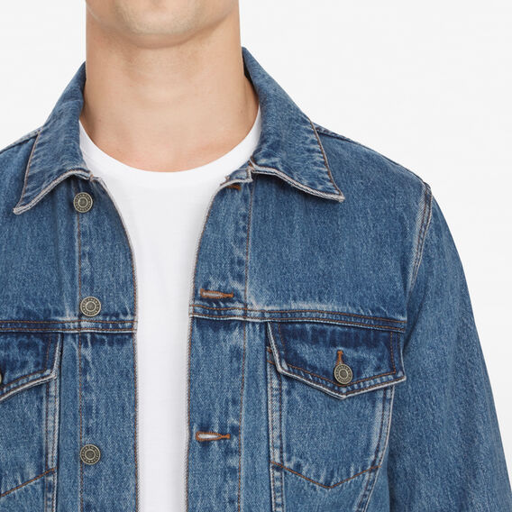 WASHED DENIM JACKET  MID WASH  hi-res