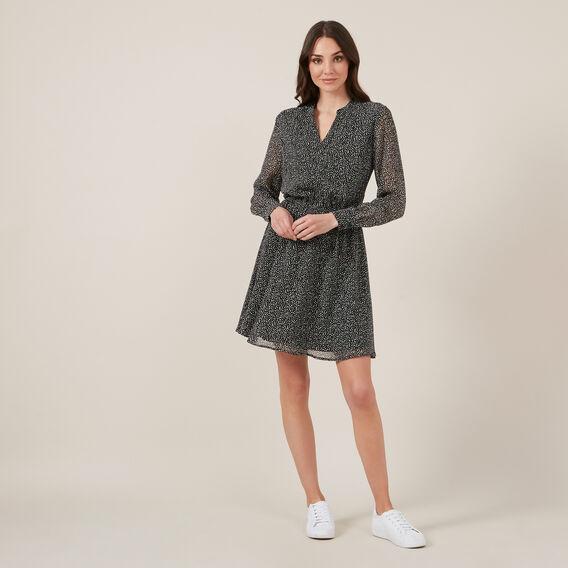 ABSTRACT SPOT MINI DRESS  BLACK/WHITE  hi-res