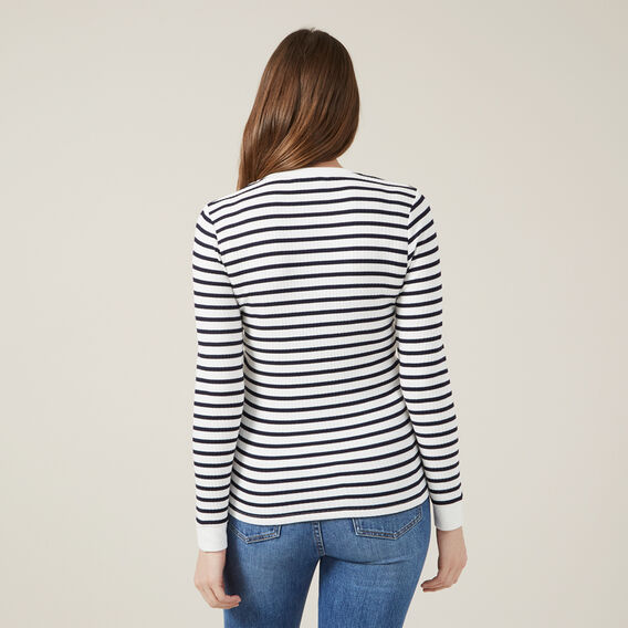 STRIPE LONG SLEEVE TEE  NAVY/WHITE  hi-res