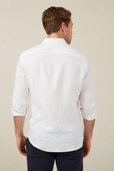 LINEN L/S CLASSIC FIT SHIRT  WHITE  hi-res