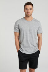 CLASSIC CREW NECK T-SHIRT  GREY MARL  hi-res