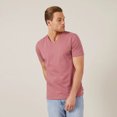 CLASSIC V-NECK T-SHIRT  WASHED BERRY  hi-res