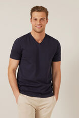 CLASSIC V-NECK T-SHIRT  NAVY  hi-res
