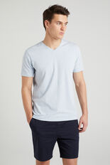 CLASSIC V-NECK T-SHIRT  PALE BLUE MARL  hi-res