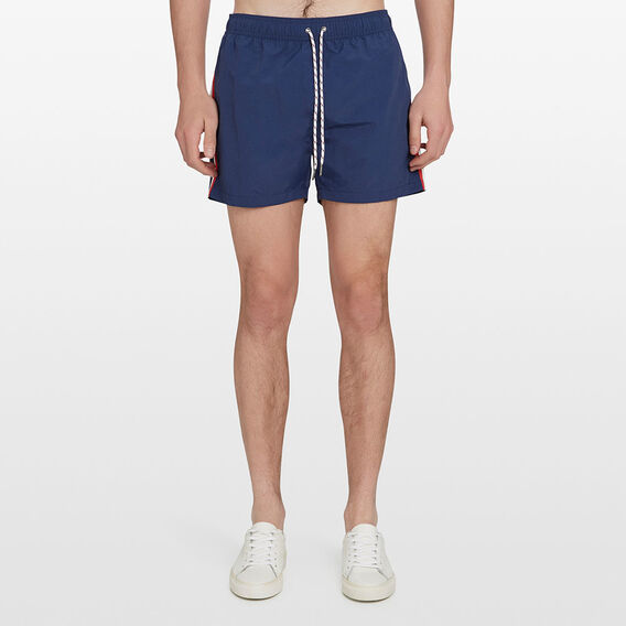 SIDE STRIPE SWIM SHORT  MARINE BLUE  hi-res