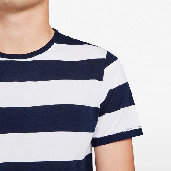 CLASSIC BOLD STRIPE CREW NECK T-SHIRT  MARINE BLUE/WHITE  hi-res