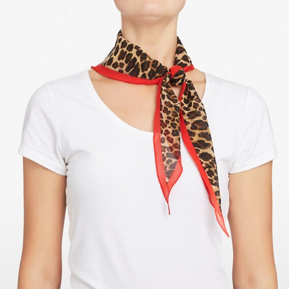 ANIMAL PRINT BORDER NECKERCHIEF  MULTI  hi-res