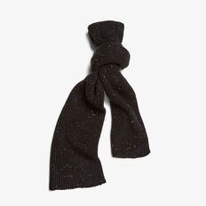 SPECKLE SCARF  BLACK  hi-res