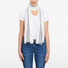 SEQUIN STRIPE WOVEN SCARF  NAVY/CHAMBRAY  hi-res