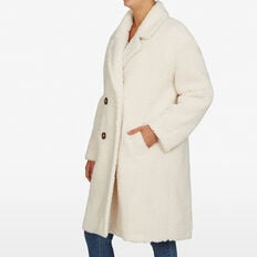FAUX SHEARLING COAT  OFF WHITE  hi-res