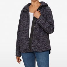ANIMAL PRINT ANORAK JACKET  MONOCHROME  hi-res