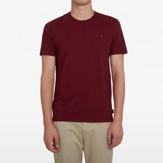 BIKE EMROIDERED T-SHIRT  BURGUNDY  hi-res