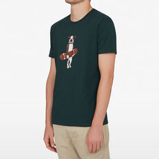 SKATER DOG T-SHIRT  FOREST GREEN  hi-res