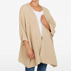 ESSENTIAL PONCHO  SAND  hi-res