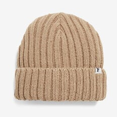 RIBBED KNIT BEANIE  CAMEL  hi-res